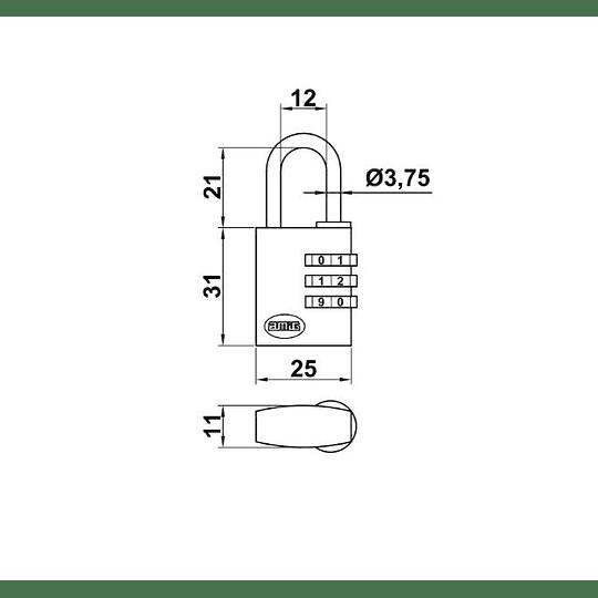 Aloquete AMIG de combinação 15mm