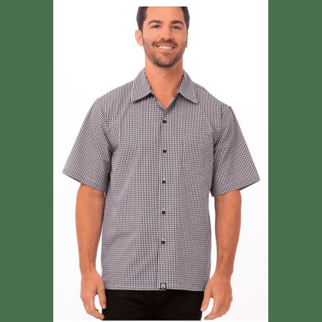 Camisa Cuadrille Negro/Blanco