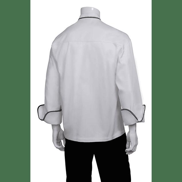 Chaqueta Evian Blanca con Doble Vivo Negro