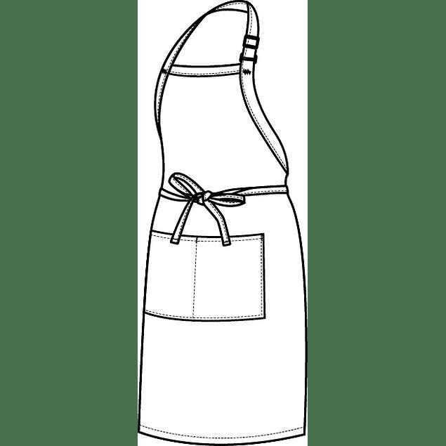 Pechera Clásica con Bolsillo Blanca F8-Wht