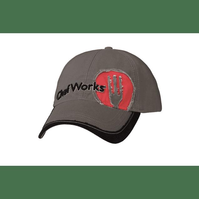 Gorro Jockey Gris Con Logo Rojo HC001-GCR