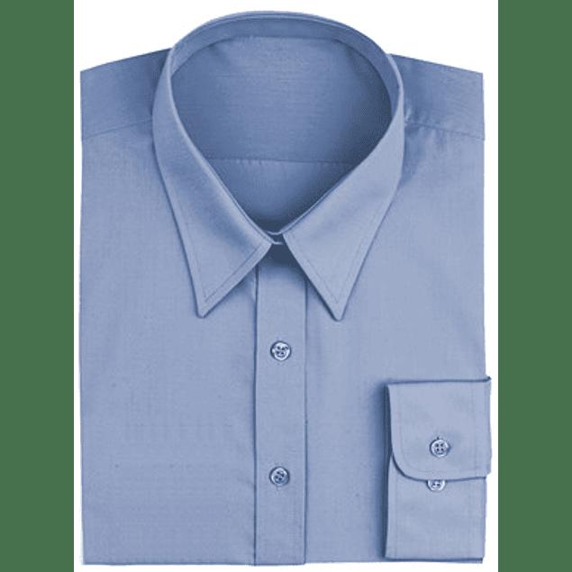 Blusa Dress Shirt French French Blue (Azul Francés)