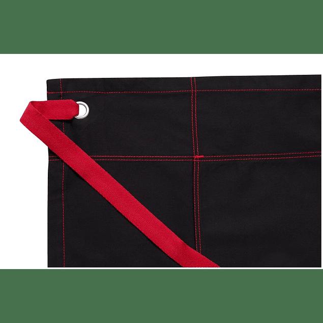 Mandil Urban Aw034-B2R Negro Con Rojo