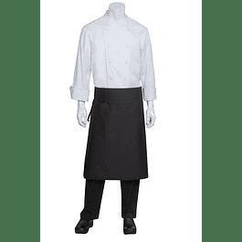 Mandil Clasico Negro con bolsillo lateral