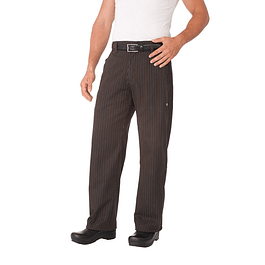 Pantalon Professional Spice Stripe Lineas Café