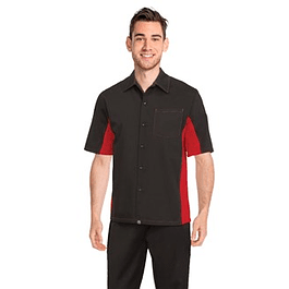 Camisa Universal Contrast Negro-Rojo
