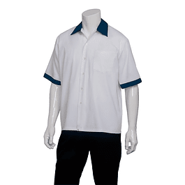Camisa Kitchen Cook Blanca Blanco Apl Azul