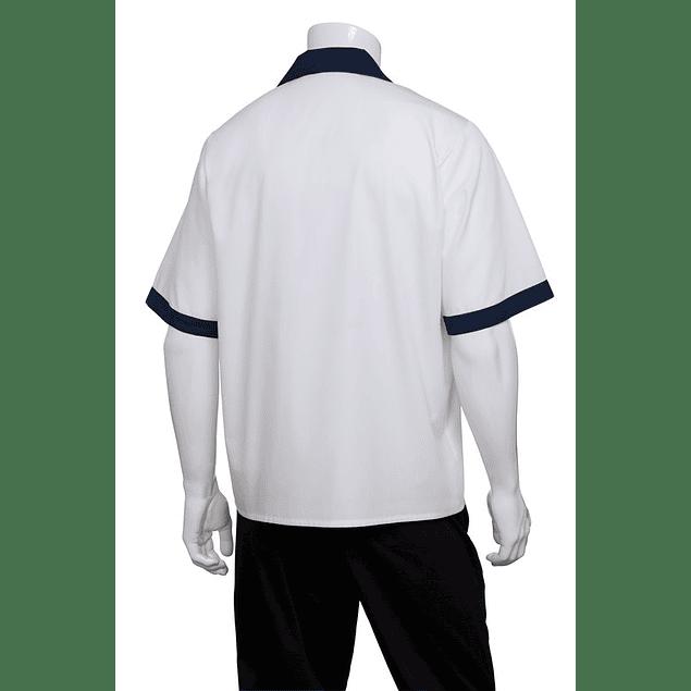 Camisa Kitchen Cook Blanca Blanco Apl Azul