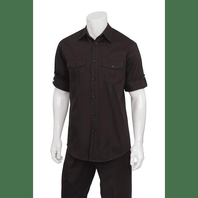 Camisa Dos Bolsillos Negro