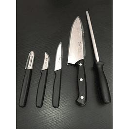 Set de Cuchillos con bolso Chef Works