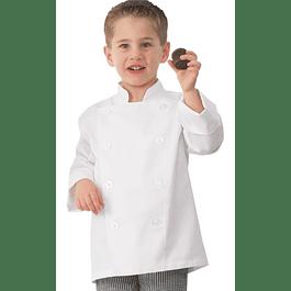 Chaqueta Chef Niño Blanca Blanco