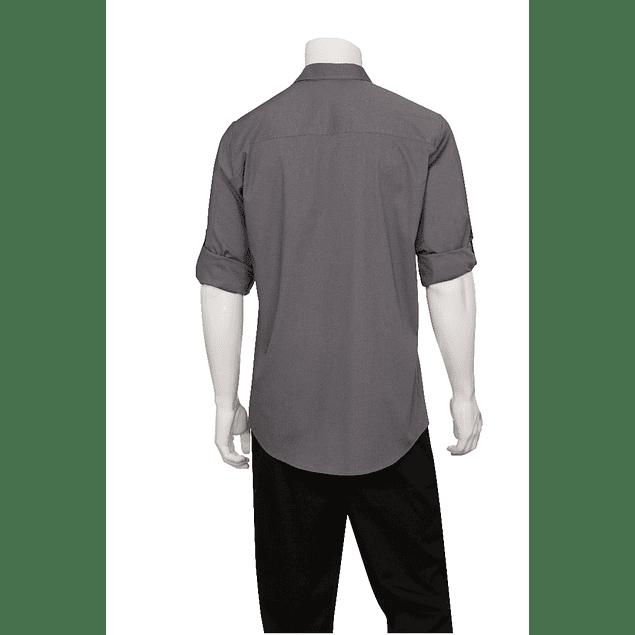 Camisa Dos Bolsillos Gris