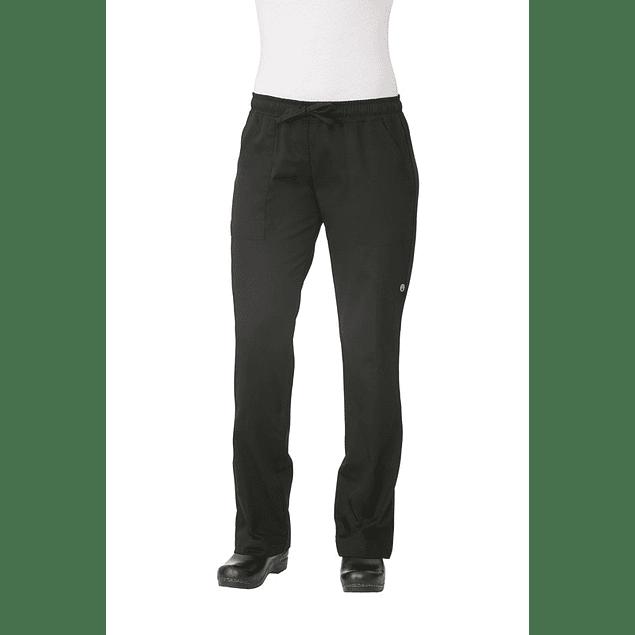 Pantalon Baggy Mujer Negro