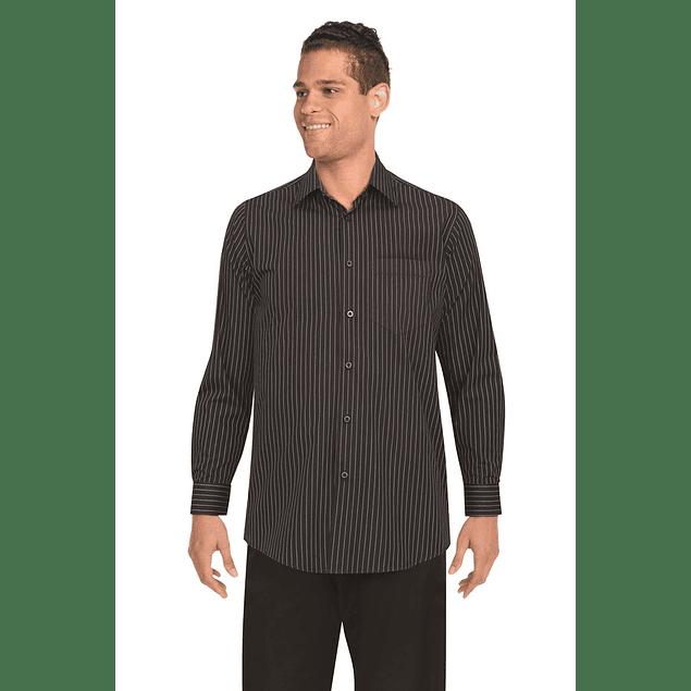 Camisa Onyx Negra Negra R. Blanca