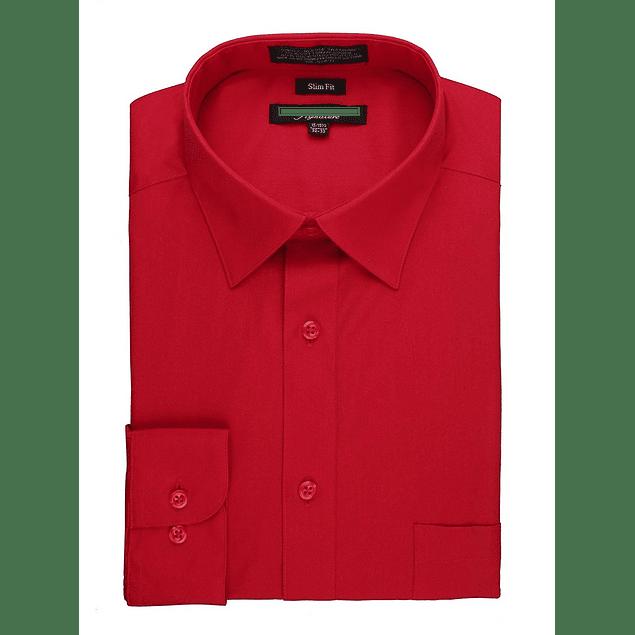 Camisa Dress Shirt Red - Roja