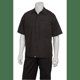 Camisa Cool Vent Cook Shirt Negra Negro