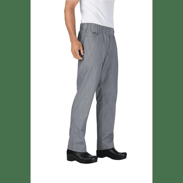 Pantalon Hombre Steel Blue Fine Stripe Vertical Str