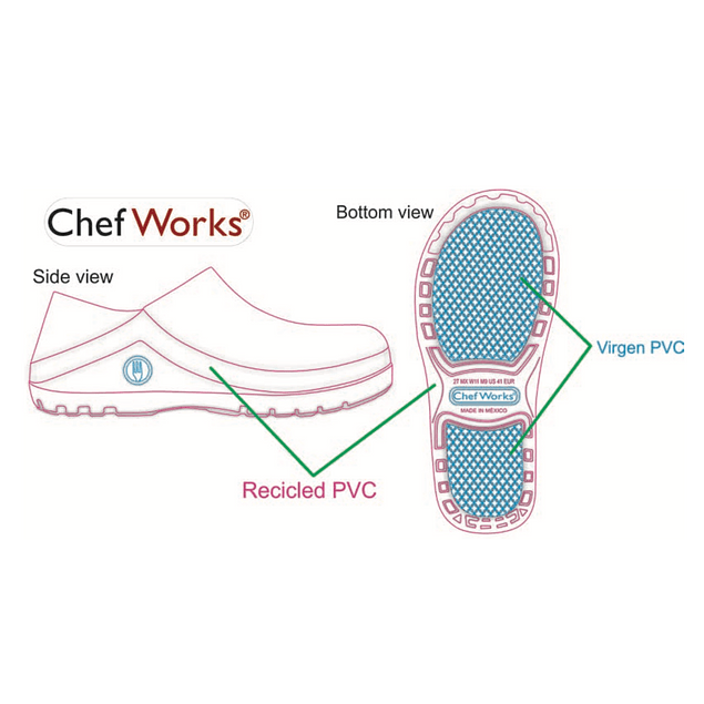 Zueco Chef Works Negro