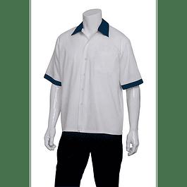 Cook Shirt M/C Blanca&Azul Blanco Apl Azul