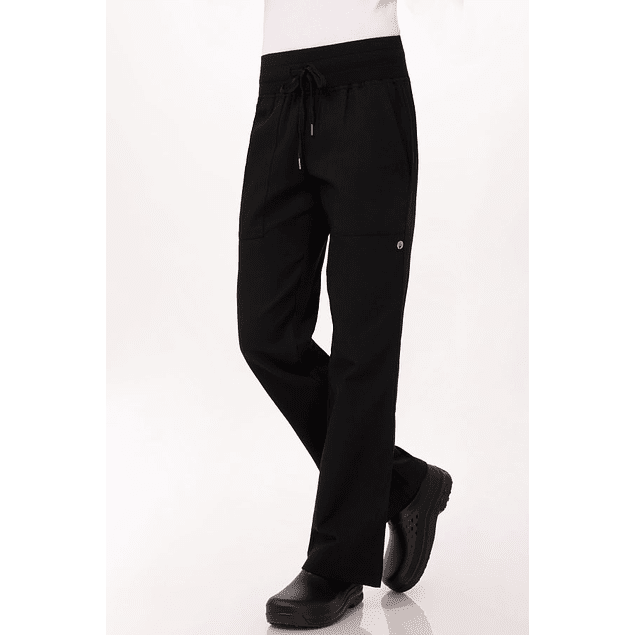 Pantalon Comfi Mujer Negro
