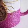 Taza escarchada rosada