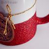 Taza escarchada roja