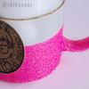 Taza escarchada rosa neón