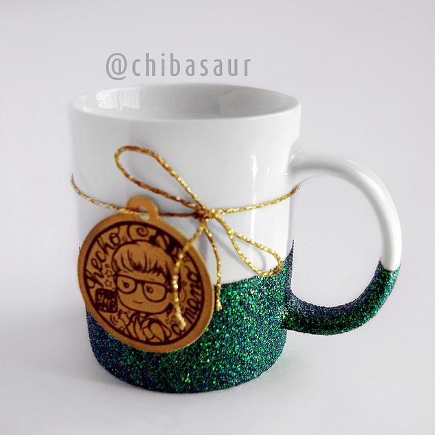 Taza escarchada esmeralda