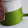 Taza escarchada verde