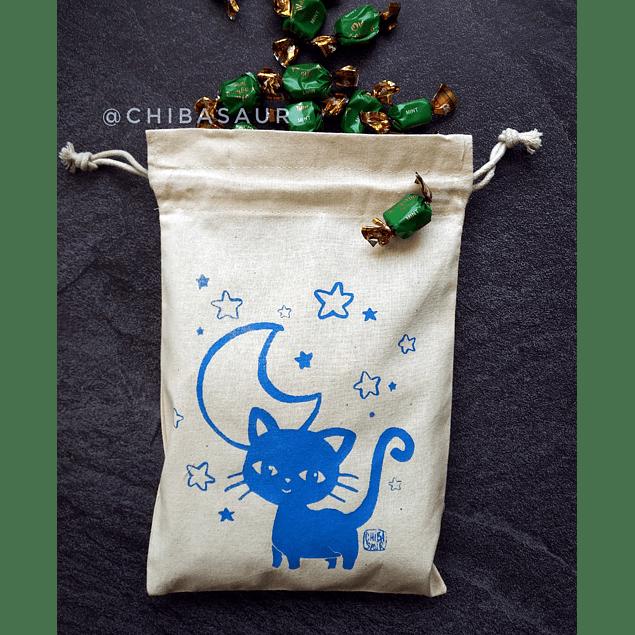 Saquito para dulces Halloween Gato