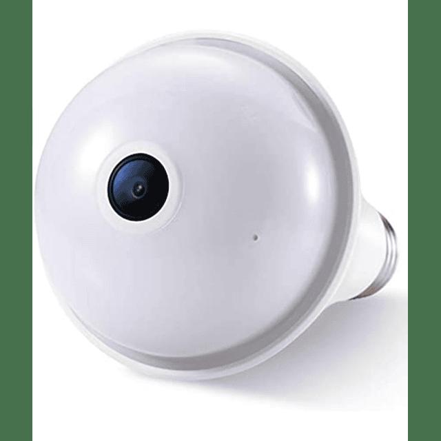 Cámara IP WiFi 2MP, Heimdall ampolleta visión 360° grados panorámico