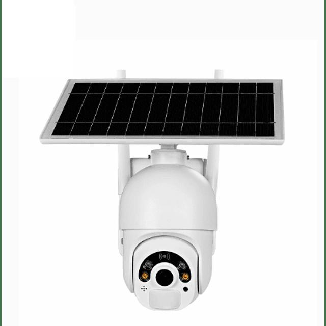 Cámara IP WiFi 2MP PTZ, Escam IR 20M Con panel solar separado 4G/LTE
