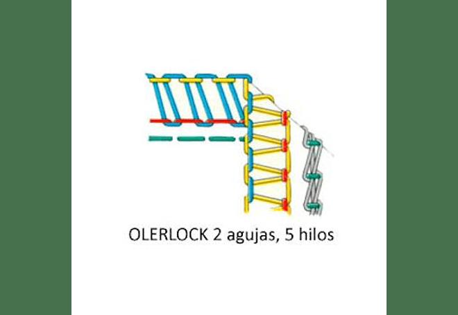 OVERLOCK SIRUBA MOD 757L-516M2-35 - 5 HILOS