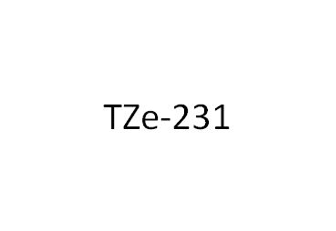 TZE231 CINTA LAMINADA NEGRO 12MM X 8MT