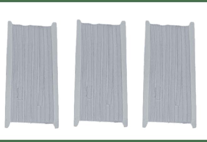 Elastico blanco de 8 mm x 10 mt -  Pack tres unidades