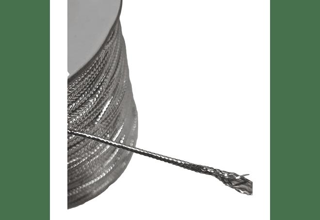 CORDON 1.5 MM X COLOR PLATA X 100 MT