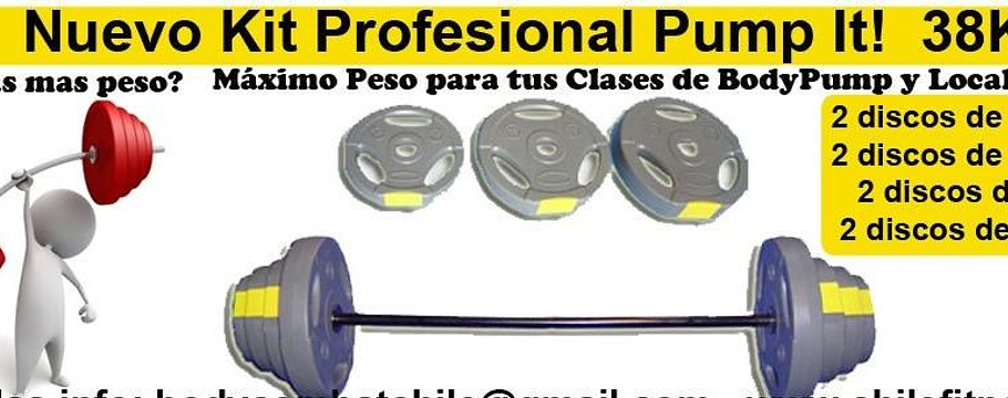 Pump-it! Kit Profesionales 38 Kgs Discos Acanalados