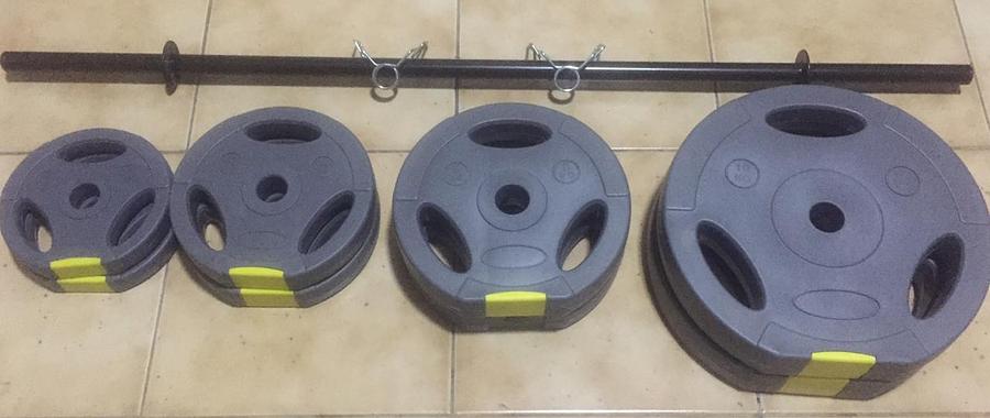 Pump-it! Kit Profesionales 38 Kgs Discos Acanalados