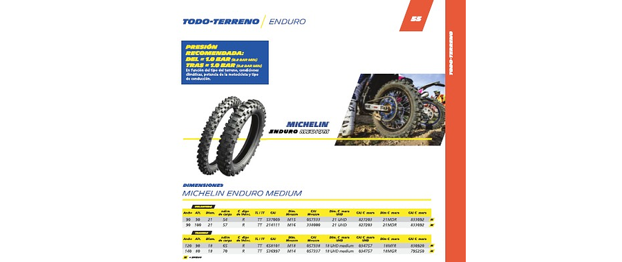 NEUMATICO 90/100R21 ENDURO MEDIUM MICHELIN