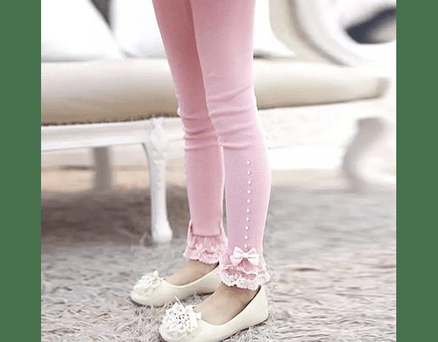 Leggings Lace Rosa
