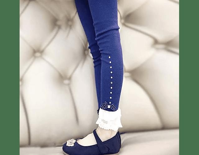 Leggings Lace Azul