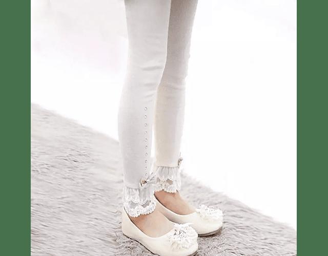 Leggings Lace Beige