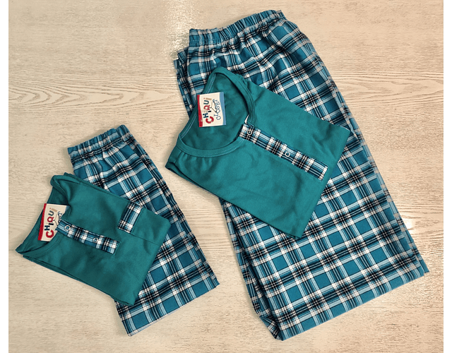 Pijama Escocés Verde