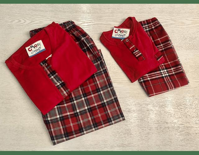 Pijama Escocés Roja