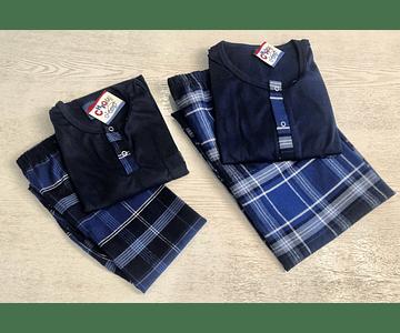 Pijama Escocés Azul Oscuro