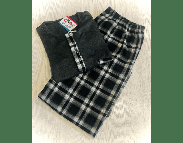 Pijama Escocés Gris