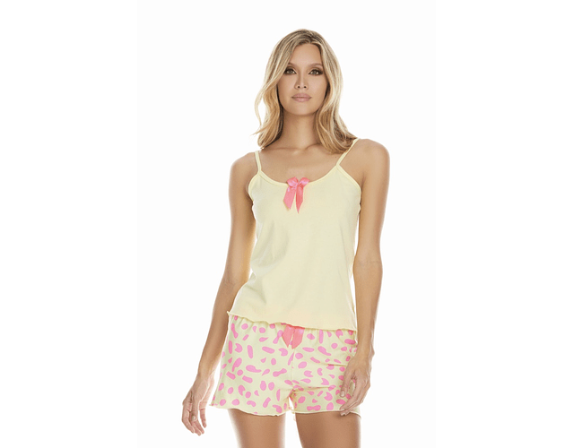 Pijama Yellow Print