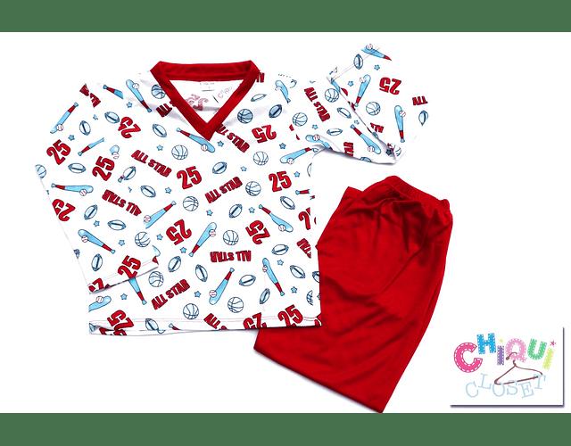 Pijama All Stars Cuello V
