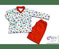 Pijama Fútbol Cuello V