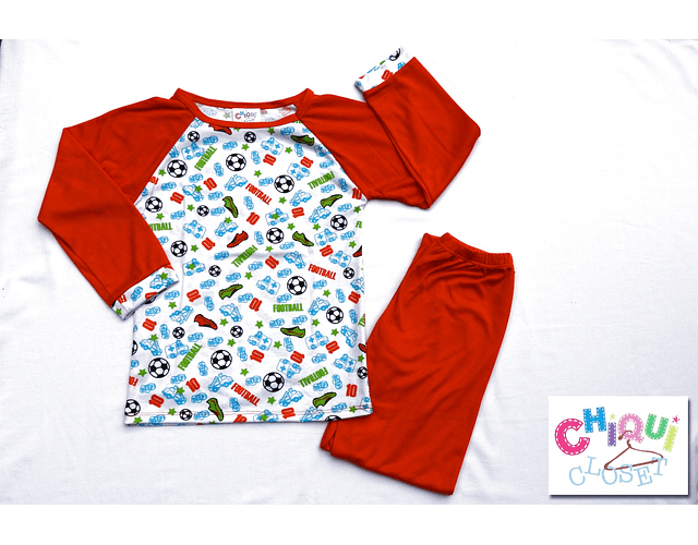 Pijama Fútbol Cuello Redondo